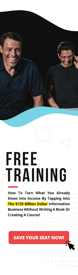 Reserve Your Seat For This Free Training With Tony Robbins
