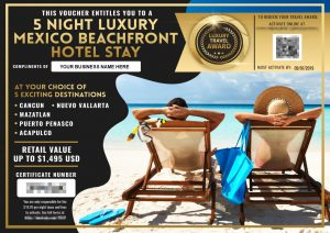 Marketing Boost Review Vacation Voucher Example